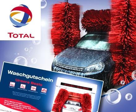 7 statt 13,50 Euro - TOTAL Autowäsche bei DailyDeal