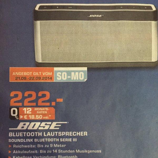 Bose Soundlink 3 bei Saturn Sankt Augustin