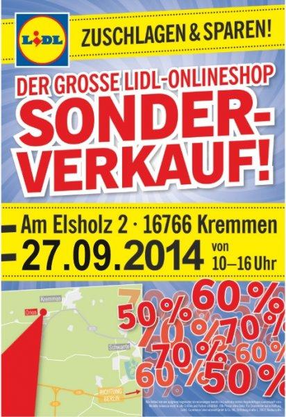 27.09 Lidl Online Sonderverkauf bei Berlin - Besonders Waschmaschinen / Kühlschränke usw.  mit Transportschäden zu tollen Preisen