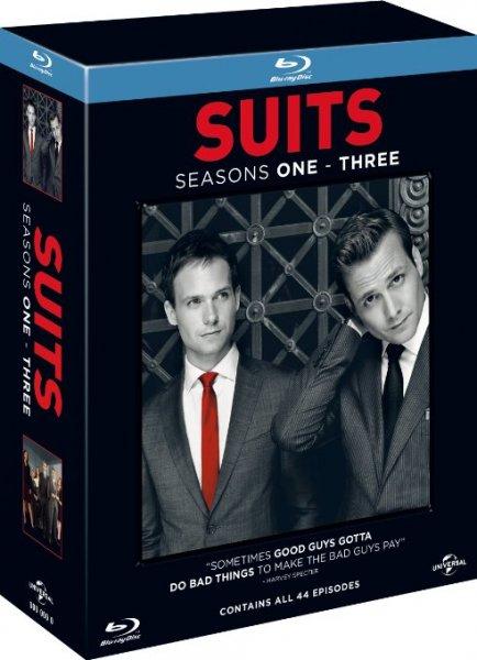 [amazon.uk] Suits - Series 1-3 [11 x Blu-rays] inkl. Vsk für ca. 44,35 €