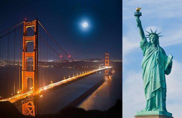 Flüge: Kombireise San Francisco, New York und Washington ab Berlin 501,- € gesamt (ohne New York 465,- €)