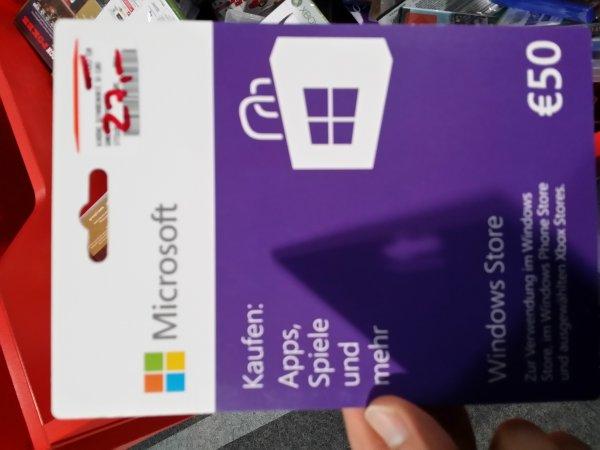 Microsoft 50,- Guthaben Karte für 27,-