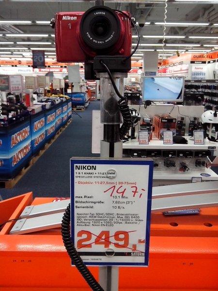 Lokal: Saturn Leipzig Hbf, Nikon 1 S1 Kit für 147€
