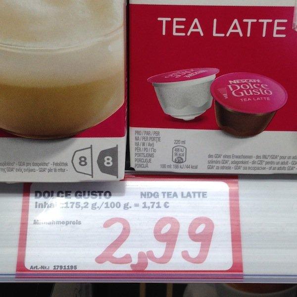 [LOKAL Sindelfingen MM] Dolce Gusto - Tea Latte 2,99€