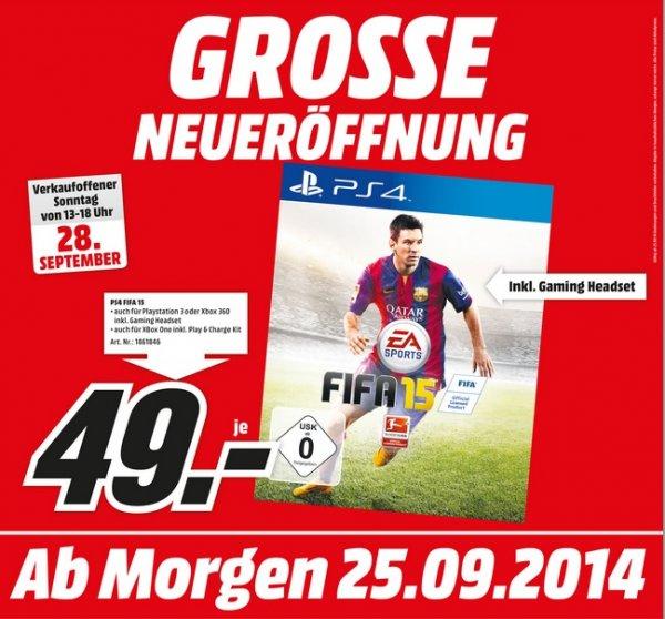 Fifa 15 PS4 inklusive Gaming Headset für 49€ Lokal @ Mediamarkt Recklinghausen