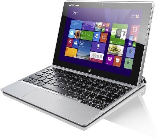 Lenovo Miix 2-10 (10,1 Zoll FHD IPS) Convertible PC 64 GB silber
