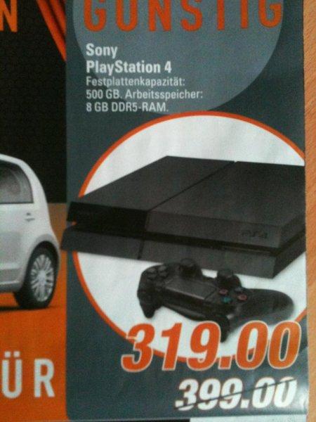 [Lokal Marktkauf Lage(Lippe)] Sony Playstation 4 (PS4) 500GB für 319,00€