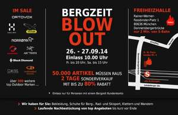 [Lokal München] Bergzeit Blowout