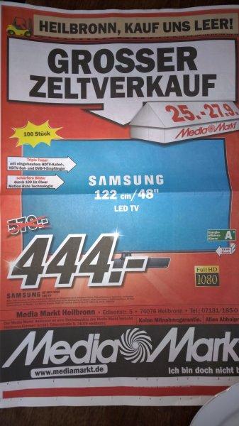 [Lokal Heilbronn] Media Markt Zeltverkauf z.B. Samsung UE48H5090 für 444,- € und vieles mehr