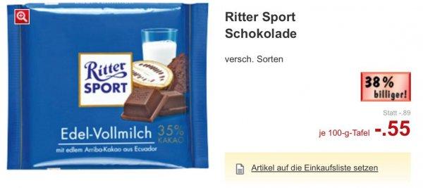 """Rittersport 100g bei Kaufland für 0,55 € ab 22.09. """"Mannheim"""""""
