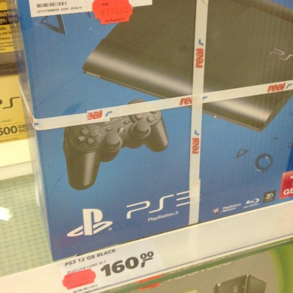 Playstation 3 Slim 12gb lokal Real Würzburg