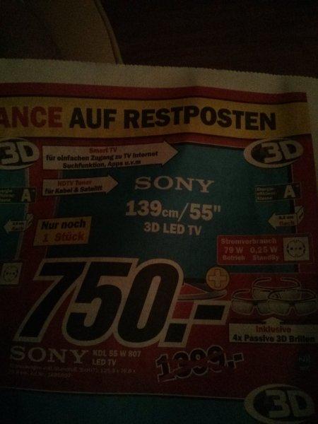 1x Sony KDL-55W807 MM Zwickau