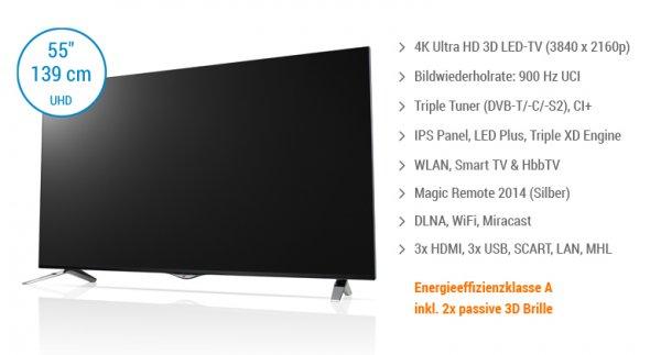 [Lokal] Saturn HH LG 55UB830V UHD TV