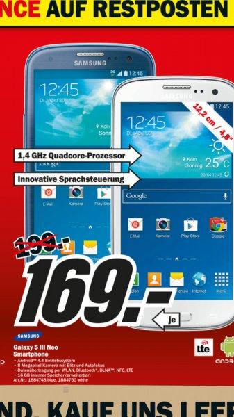 Media Markt Berlin - Samsung S3 Neo 169 €