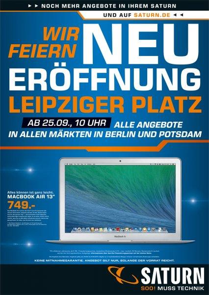 "[Lokal] [Berlin] Macbook Air 13"" 749€ @ Saturn"