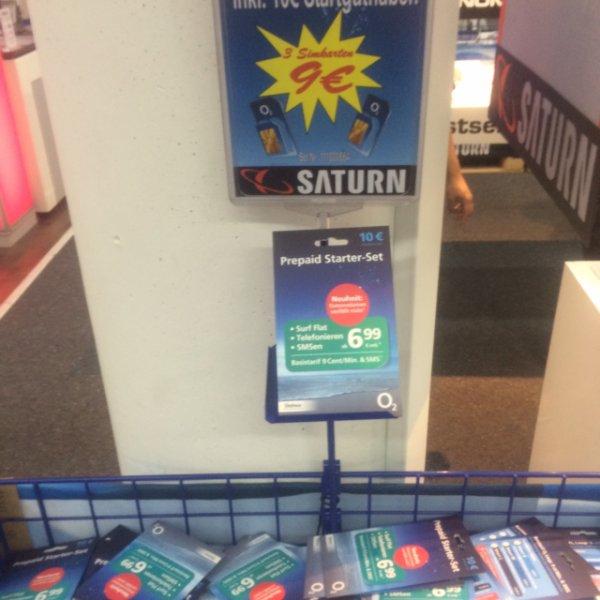 [Lokal Mannheim Saturn ]Psn Guthaben, 3x 10€ O2 Prepaid = 9€
