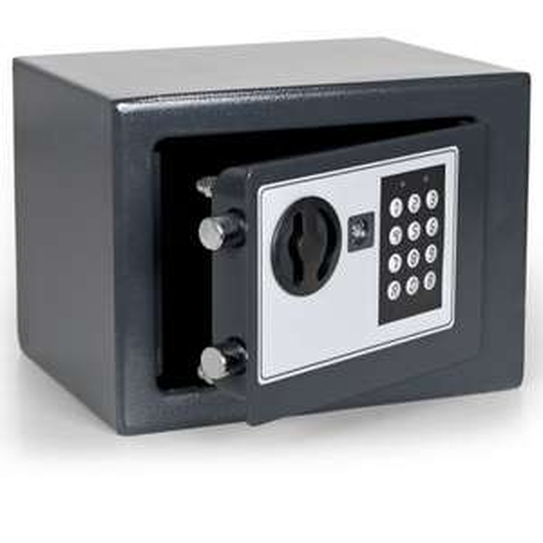 (ebay) Elektronischer Safe Tresor 17x23x17cm Möbeltresor Kombination + Schlüssel