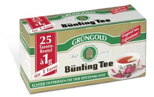 [Preisfehler] Bünting Grüngold Teebeutel, 24er Pack (24 x 25 x 1 g Schale) für 1,10€ + Versand