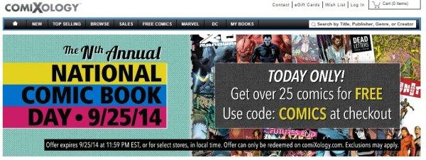25 Comics (digital) gratis - Comixology - Nur am 25.09.2014