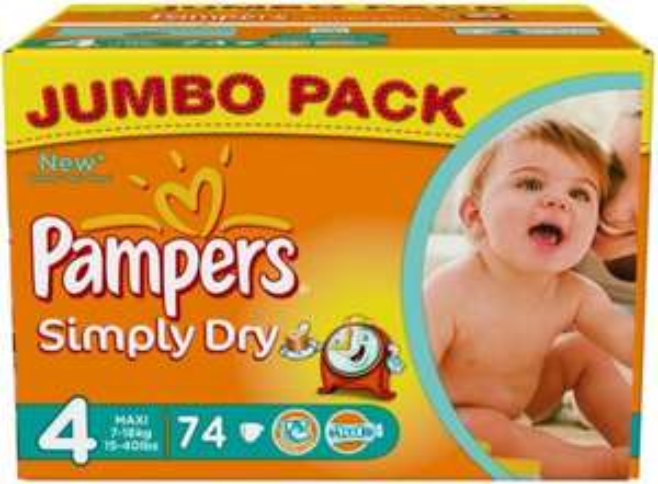 [HOMBURG-EINÖD] Globus: Pampers Simply Dry Jumbo Pack für 7,11€ = 0,088€/Windel