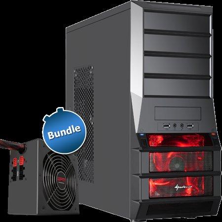 """ZACKZACK: Bundle: Netzteil """"WPM500 V2"""" + Midi-Tower """"Sharkoon Vaya"""""""
