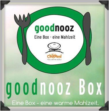 1 warme Mahlzeit für Children for a better World e.V. (=2€) + brandnooz Box inkl. einem zusätzlichen Produkt (alias goodnooz) für 7,69€ inkl. GS als Neukunde