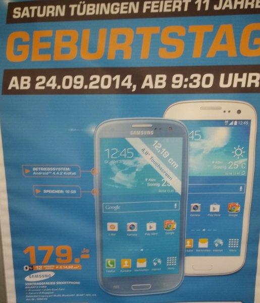 Saturn Tübingen - Galaxy S3 Neo 179,- € (ab 24.09.2014)