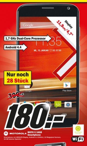 "Motorola Moto X 16GB für 180€ ""Lokal "" Mediamarkt Belm-Osnabrück"