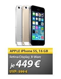 Apple Iphone 5S in allen 3 Farben Meinpaket 449€ mit Herstellergarantie [Demo]