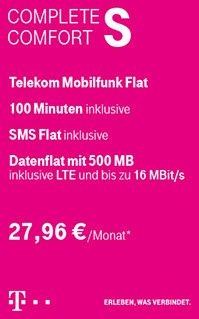 Telekom Comfort S - Galaxy S5 + iPad Mini Retina - 29,95€ monatlich