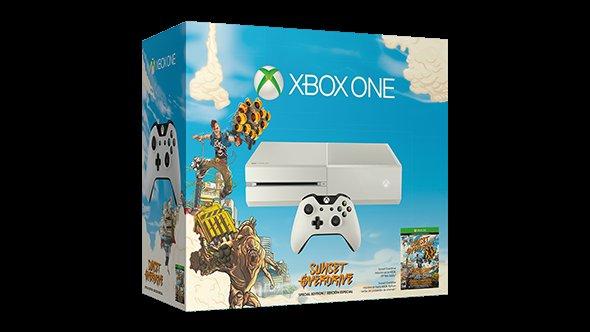 [Qipu] Xbox One in weiß + Sunset Overdrive + 10€ MS Store Gutschein für 376€