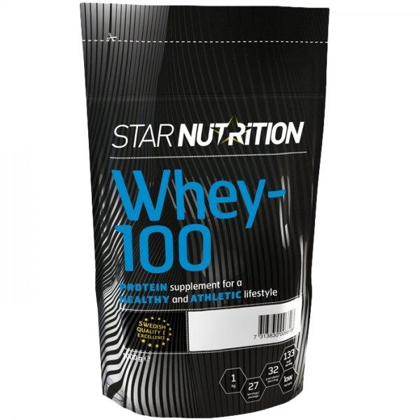 Molkeneiweißprodukt Whey-100® von Star Nutrition (gescheite Nährwerte)