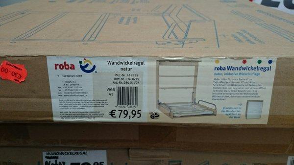 Roba Wandwickelregal 26015v97 Idealo 99,86 Euro für nur 30 Euro im Real Siegen im Zelt.
