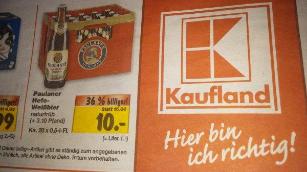 Kaufland Augsburg Paulaner Weißbier 10€ ab Montag