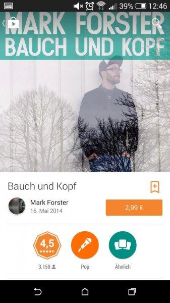 Mark Forster- bauch und Kopf album,als Download