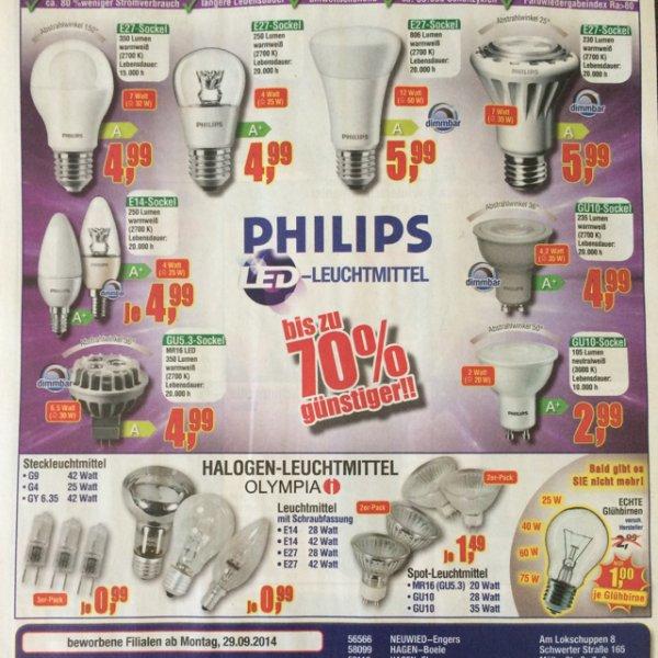 Lokal- Center Shop diverse Philips LED Leuchtmittel