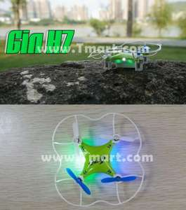 china online H7 4CH 6 Axen Gyro LED RC Quadcopter with Protective Cover