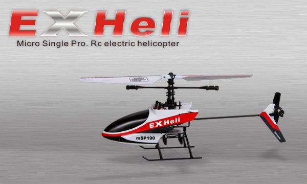 Mini Hubschrauber von ExHeli 4Kanal mit 2,4GHz Fernsteuerung