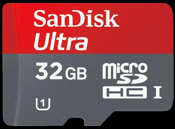 [Media Markt]SANDISK Ultra® microSDHC™ SDSDQUA-032G-U46A 32 GB Speicherkarte mit Adapter +Kostenfreie Versand