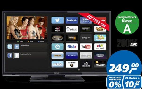"""Telefunken D40F182N3C für 249€ @Real (mit payback bis zu 230,40 euro) - 40"""" LED SmartTV, WLAN! und Triple?Tuner"""