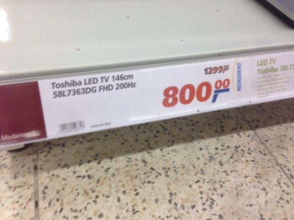 (Offline) Toshiba TV 58L7363DG für 800€ @ real