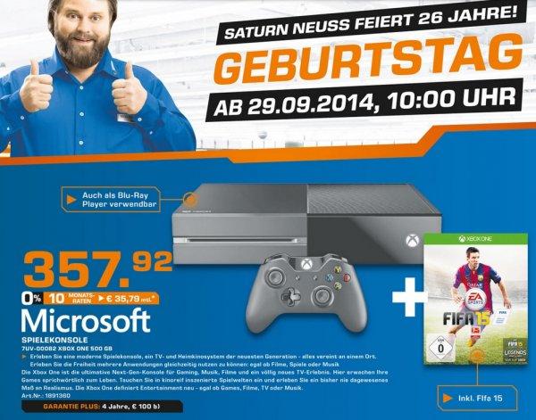 "Microsoft Xbox One 500GB + FIFA 15 für 357,92€ ""Lokal"" @ Saturn Neuss"