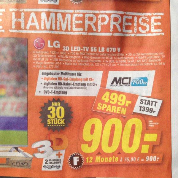 [Tevi Expert im Schwabach] LG 3D LED-TV 55 LB 670 V