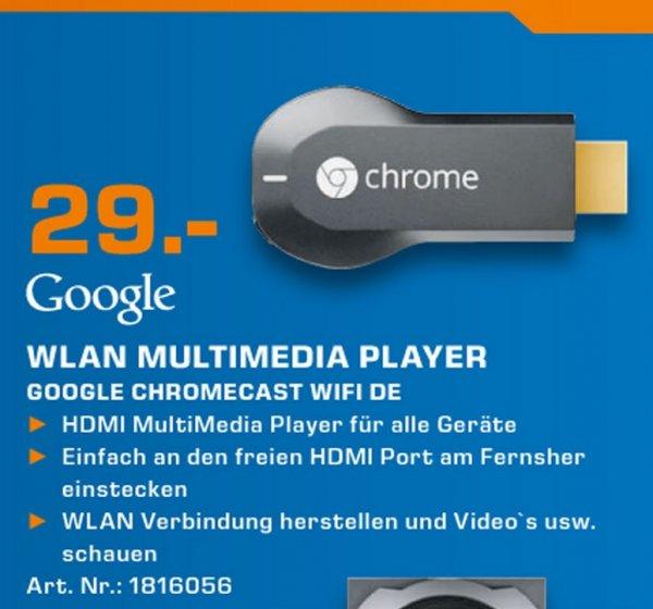 Google Chromecast für 29€ Lokal [Saturn Mönchengladbach]