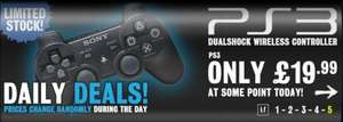 Sony PlayStation3 Dualshock 3 Controller für ~ 25,87€ inkl. Versand @Gamestation .uk