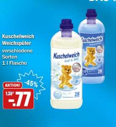 Kuschelweich Weichspüler 1l - HIT-Markt