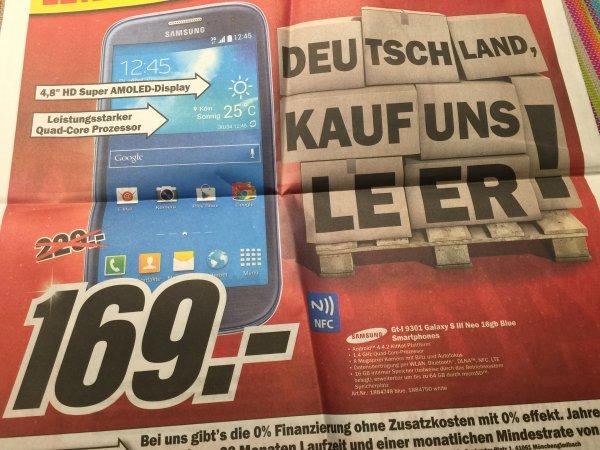 [Lokal MM Lichtenfels] Samsung Galaxy S3 Neo 16GB (GT-I 9301)