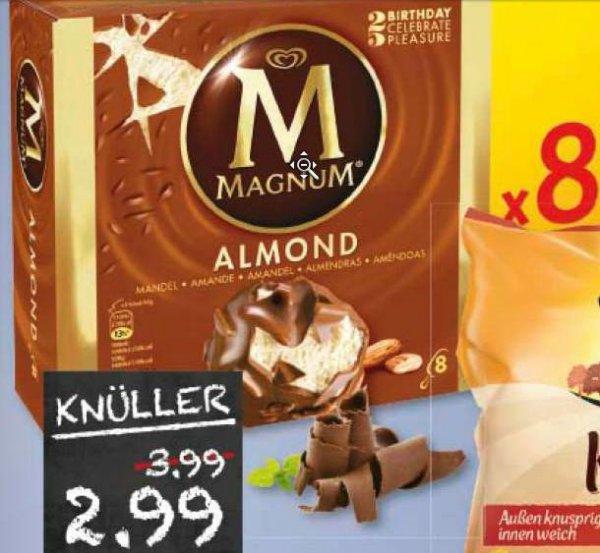 [Marktkauf evtl. nur regional MünSter] Magnum Eis 8 Stck - verschiedene Sorten