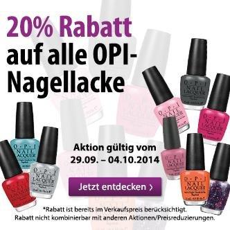 [Müller] 20% Rabatt auf OPI Nagellacke nur 12,80 € statt 16 €