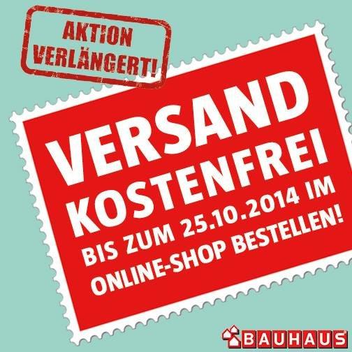 Verlängert! Kostenfreier Versand bei Bauhaus bis 25.10.2014